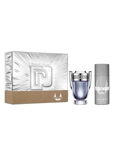 Paco Rabanne Paco Rabanne Invictus EDT 100 ml + Deodorant Sprey 150 ml Erkek Parfüm Seti Renksiz
